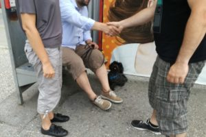 Foto Begegnungstraining mit Hunden / Menschen